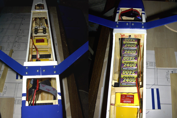 The Battery Sits About 1 2 Back From Firewall And Is Held In Place With Velcro Straps A Removable Hatch Bottom Allows Batteries To Be