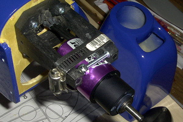 I Used A Standard 40 Size Nylon Mount And Hose Clamp To Hold The Motor